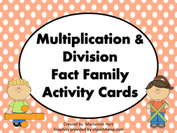 multiplication  division fact family houses by mlhart  multiplicationanddivisonfactfamilyhousepdf