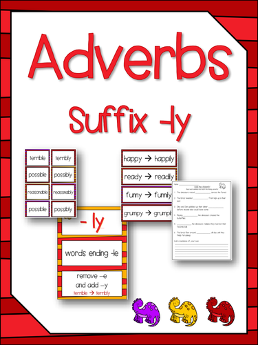 Worksheets Suffix Ly Activities adverbs suffixes ly literacy spelling activity no prep preview resource