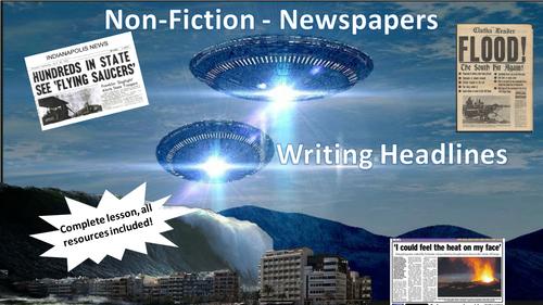 Newspaper Headlines  - Full Lesson