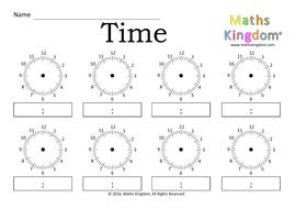 Time blank clock digital analogue24hr by mathskingdom time blank clock digital analogue ibookread ePUb
