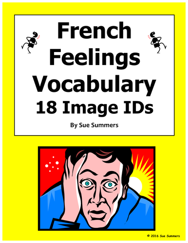 french feelings vocabulary 18 image ids by suesummersshop us teacher lessons tes. Black Bedroom Furniture Sets. Home Design Ideas