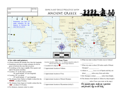 Worksheet Ancient Greece Latitude Longitude Questions & Map by ...