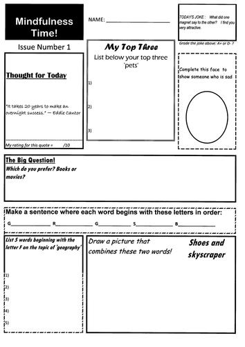 Mindfulness. Mindful and Creative Learning. Mega Pack - 40 worksheets for £1.99