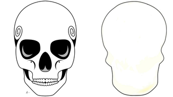Day of the Dead Skull templates by Manxminx - Teaching Resources - Tes