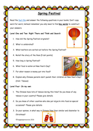 Spring Festival (Chinese New Year)  – QAR themed literacy activities