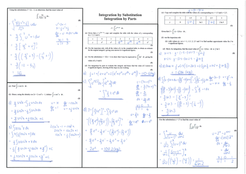 Core 4 Integration By Substitution And Integration By