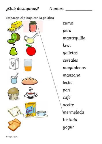 Ordering food in spanish worksheet pdf food breakfast foods in spanish el desayuno espaol by lindsayrawnsley ibookread Download
