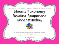 Blooms Taxonomy Reading Responses – 12 NO PREP activities for understanding! Guided Reading!