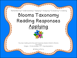 Blooms Taxonomy Reading Responses – 12 NO PREP activities for applying! Guided Reading!