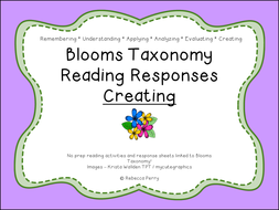 Blooms Taxonomy Reading Responses – 12 NO PREP activities for creating! Guided Reading!