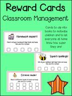 Reward Cards - Spelling, Reading, Behaviour, Homework! Classroom & Behaviour Management!
