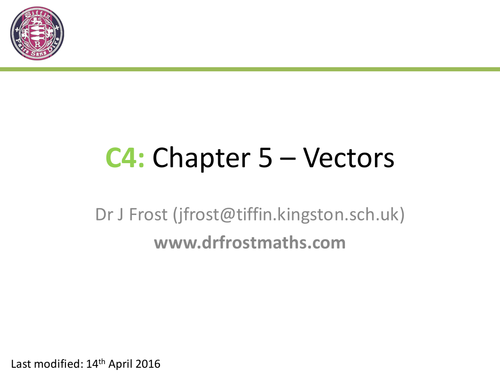Plan Elevation Gcse : C chapter vectors by drfrostmaths teaching