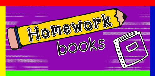 Homework book labels