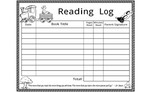 reading log by windupteacher teaching resources tes