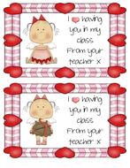 Valentine Angel Teacher Cards