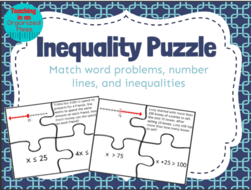 Solving one step inequalities word problem puzzle by randistowe solving one step inequalities word problem puzzle ccuart Gallery