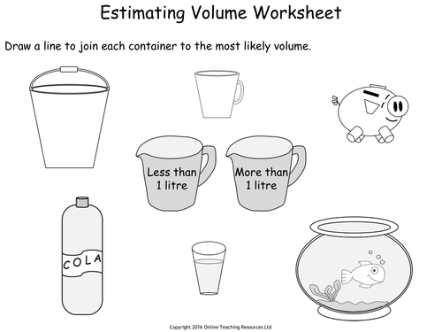 Measuring Capacity Year 2 PowerPoint and worksheets by Teacher – Capacity Worksheet