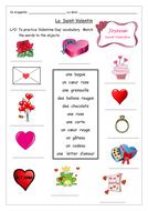 FRENCH - La Saint Valentin - Activities - Worksheets