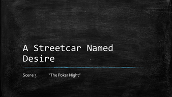 the symbolism of the poker night in a streetcar named desire