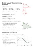 Exact Value Trigonometry