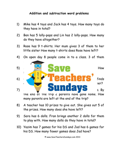addition and subtraction word problems worksheets lesson plans and model by saveteacherssundays. Black Bedroom Furniture Sets. Home Design Ideas