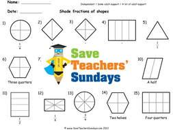Shading Fractions Worksheets Lesson Plans And Model By  Shading Fractions Worksheets Lesson Plans And Model