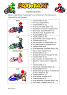 Mario Kart Distance Time Graphs
