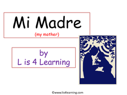 Primary Spanish- Mother's day presentation