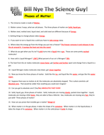 Worksheets Bill Nye Matter Worksheet bill nye phases of matter video worksheet by mmingels teaching answers docx
