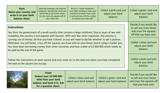 Deforestation Scenario game for AQA GCSE Biology and Science Trilogy