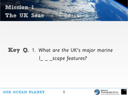 UK surrounding seas KS2 Geography