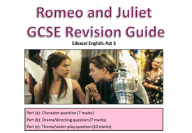 Romeo and Juliet revision pack Edexcel English F