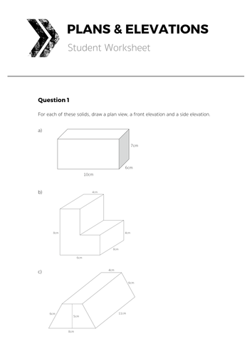 Plan And Front Elevation Gcse Maths: Sample house