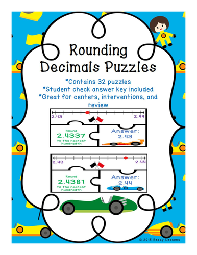 rounding decimals puzzles by readylessons teaching resources tes. Black Bedroom Furniture Sets. Home Design Ideas