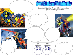 superhero speech and thought bubbles lesson ks2 3 by senteacher86 teaching resources tes. Black Bedroom Furniture Sets. Home Design Ideas
