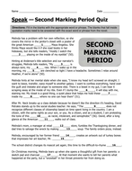 Family Business Essay Speak By Laurie Halse Anderson Second Marking Period Quiz With Answer Key Student Life Essay In English also Essay Thesis Statement Examples Speak By Laurie Halse Anderson Second Marking Period Quiz With  Old English Essay