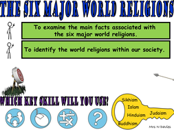 Introduction To World Religions X Lessons Including Plans - 6 major religions