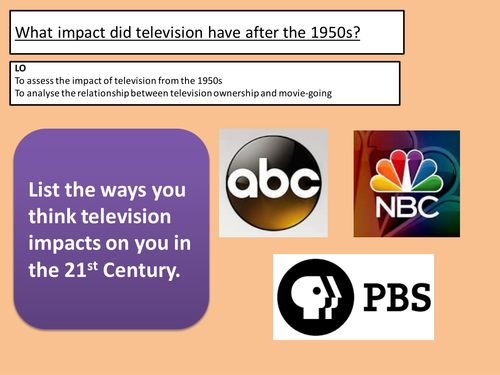 impact for video upon society on the particular 1950s
