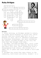 Ruby Bridges Crossword