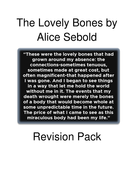 the lovely bones revision resource by kerilo teaching resources the lovely bones revision pack docx