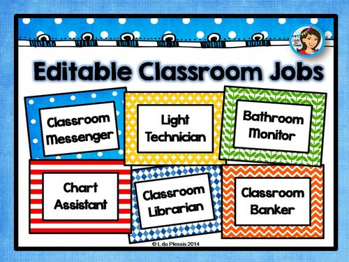Modular Classroom Jobs ~ Classroom jobs by lindylovestoteach teaching resources tes