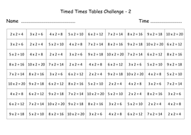 times tables revision sheets with answers by lynellie teaching