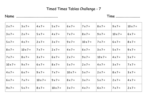 Times tables revision sheets no answers by lynellie for Revision multiplication