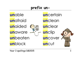 year 3 spellings prefixes un dis mis in il im ir presentation ppt and group. Black Bedroom Furniture Sets. Home Design Ideas