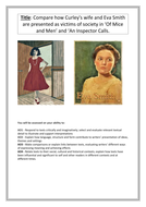 CA booklet : Comparing Eva Smith to Curley's wife