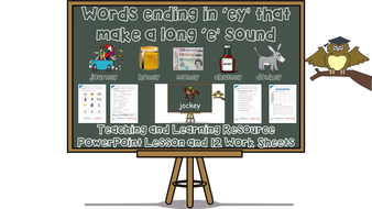 Words ending in 'ey' with long 'e' sound (/i:/ sound spelt – ey)