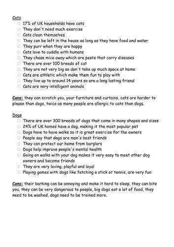 Dogs vs Cats Persuasive Essay?