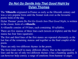 Do not go gentle into that good night explication essay