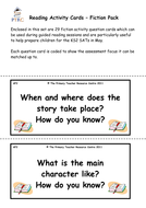Reading Activity Cards - Fiction Pack