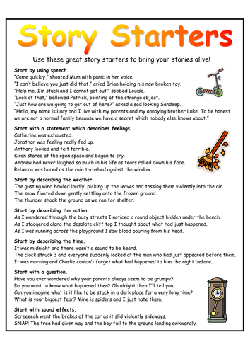 Story Starters Mat By Resourcecentre Teaching Resources
